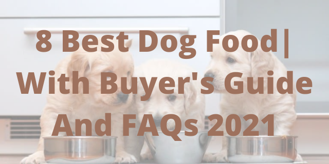8 Best Dog Food| With Buyer's Guide And FAQs 2021