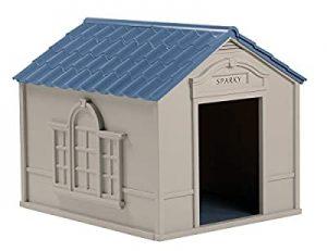 Best Big Dog House-Suncast Outdoor Dog House with Door