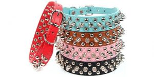 Best Spiked Dog Collars-Adjustable spiked dog collar of AOLOVE