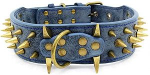 Best Spiked Dog Collars-Collars for dogs with sharp spikes in leather by UVONOKAY
